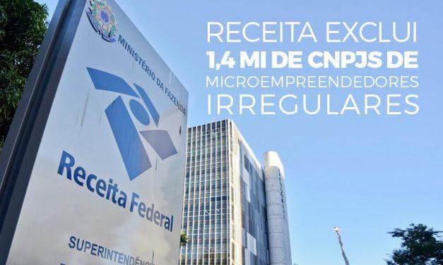 Receita exclui 1,4 mi de CNPJs de microempreendedores irregulares